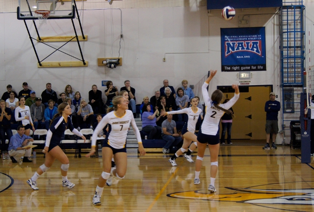 Eagles Rebound for Four Set Win Over Oregon Tech