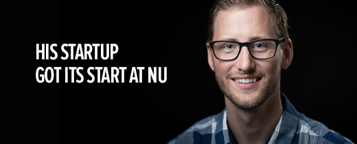 His startup got its start at NU.