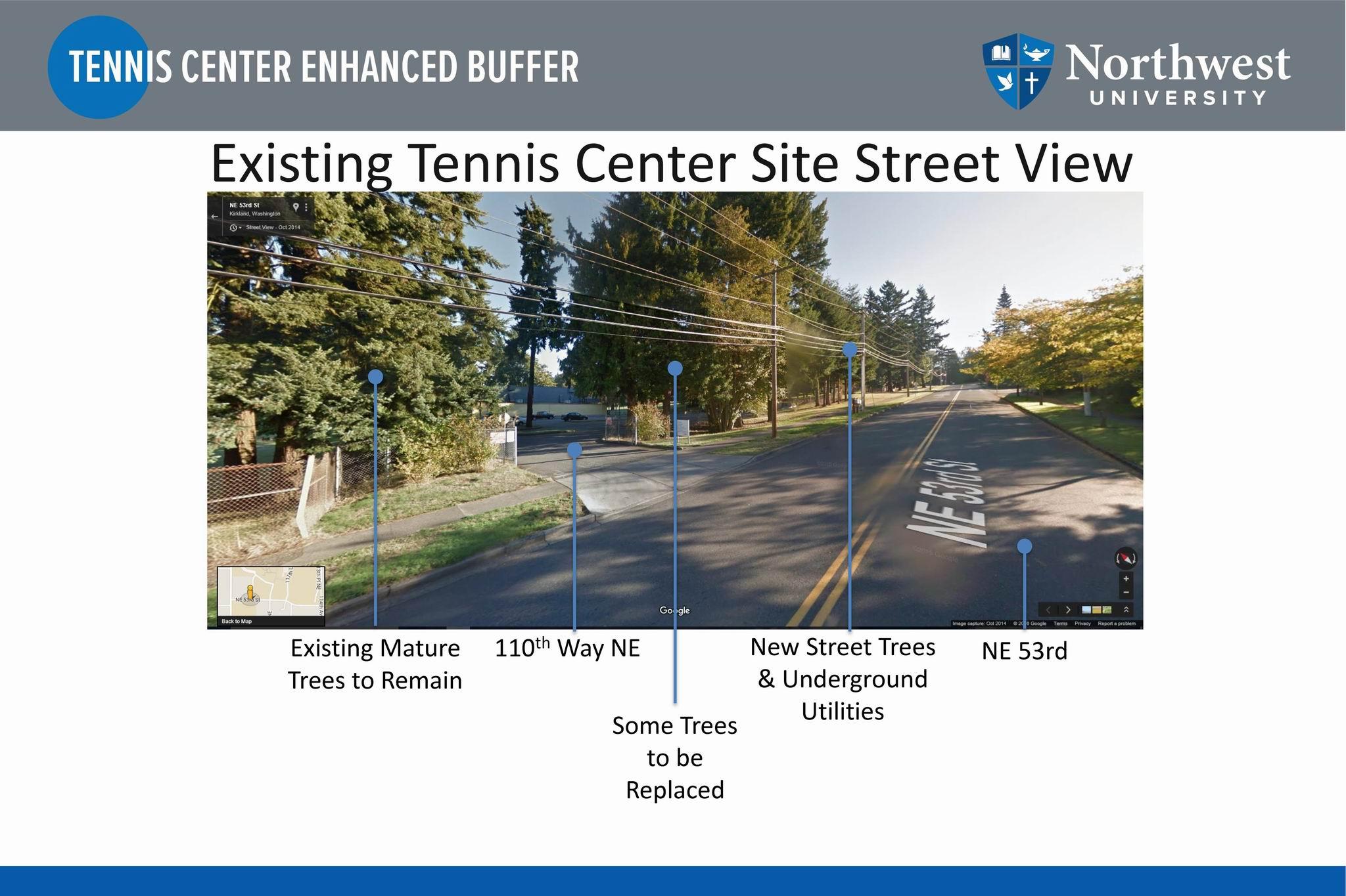 Tennis Center Existing Street View