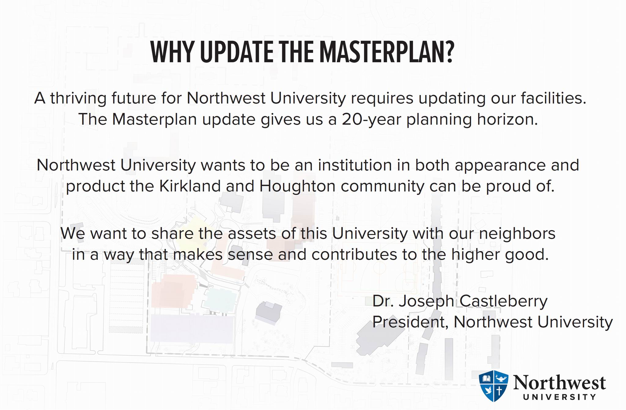 Why Update the Master Plan?