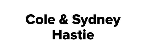 Cole and Sydney Hastie