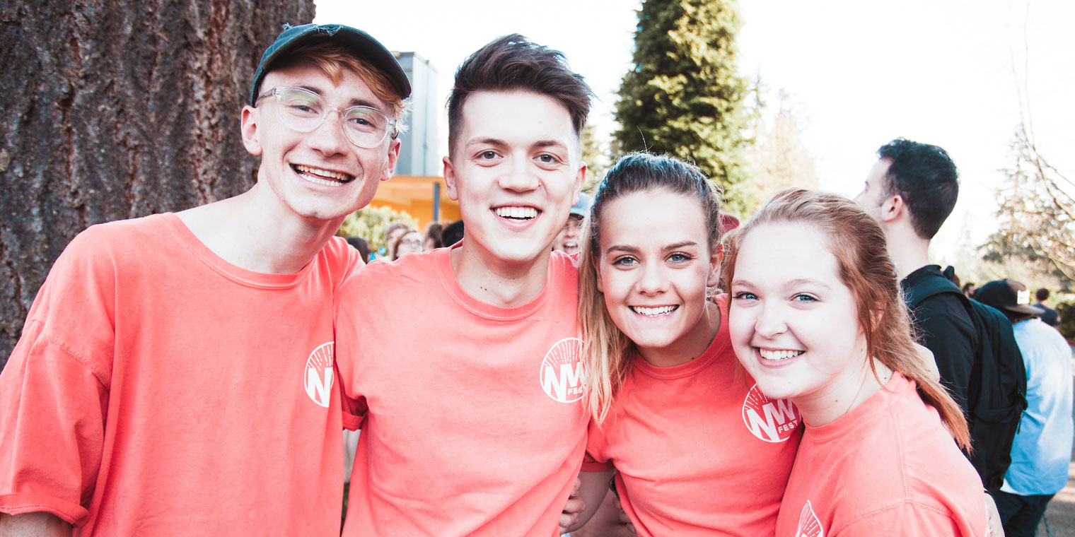 Students at Northwest Fest